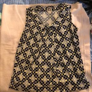 Anne Klein sleeveless shirt.